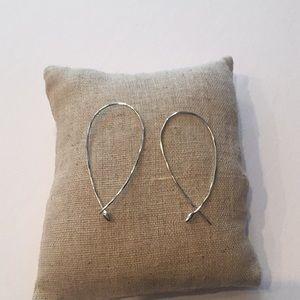 Stella & Dot Silver Wire Hoop Earrings